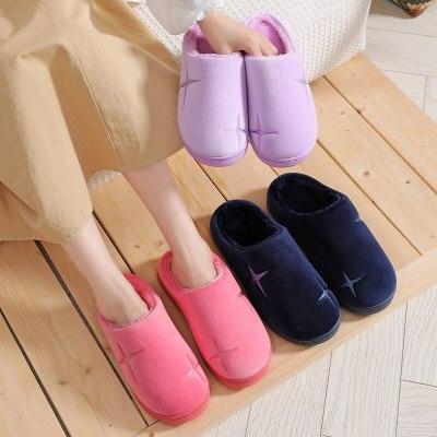 Fashion Warm Shoes Woman Slip On Flats Female Slides  Cozy
