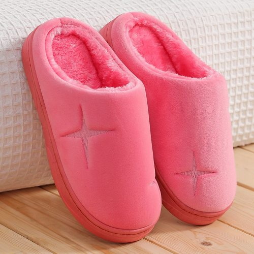 Fashion Warm Shoes Woman Slip On Flats Female Slides  Cozy
