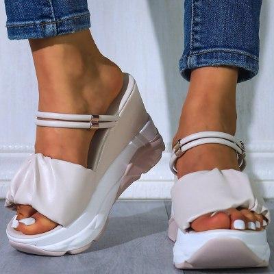 Wedges High Heels Leisure  Comfy Platform Slippers Shoes Women