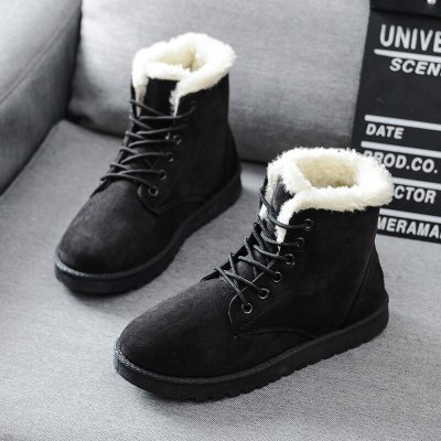 Winter Warm Thicken Fur Snow Boots  Comfortable Female Ankle Boots