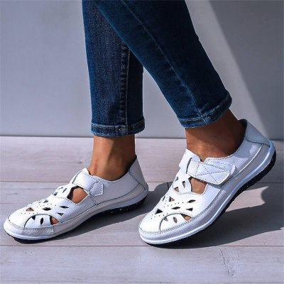 2020 Split Leather Shoes Woman Flats