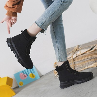 Winter Women Platform Wedge Mid Heel Fashion Girl Shoes