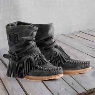 Winter Women Platform Flat Handmade Shoes