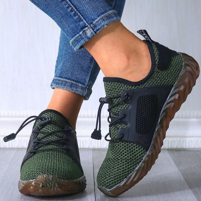 Breathable Mesh Women Flat Vulcanize Shoes Sneakers Fashion Footwear