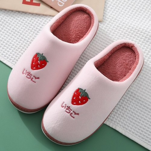 Fruit pattern Soft Bottom Home Slippers Warm Shoes Women