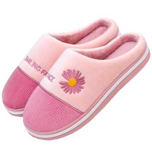 Winter Women House Slippers Faux Fur Warm Flat Shoes Female