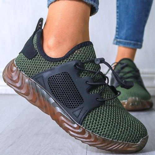 Breathable Mesh Women Flat Vulcanize Shoes Sneakers Fashion Footwear