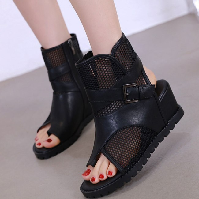 Leisure Wedge High Heel Top Quality Summer Gladiator Fashion Woman Shoes