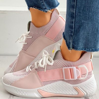 Sneakers Mesh Breathable Female Cozy Casual Shoes Flats Footwear
