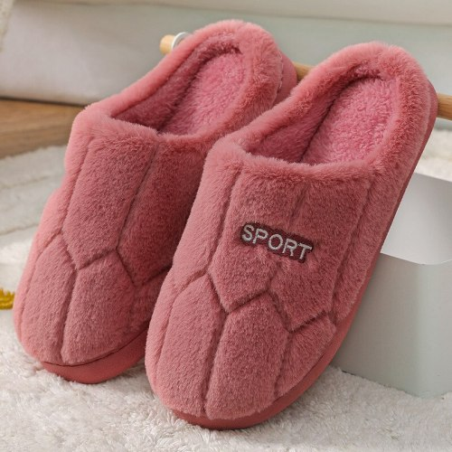 Winter Fashion Women Man Home Slippers Faux Fur Warm Shoes