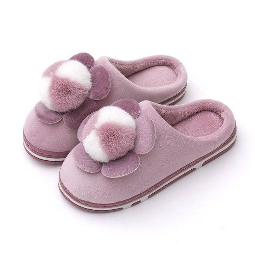 Women Winter Warm Slippers Casual Ladies Soft Comfort Shoe