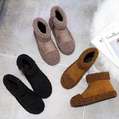 Winter Women Platform Flats Short Slip Casual Shoes