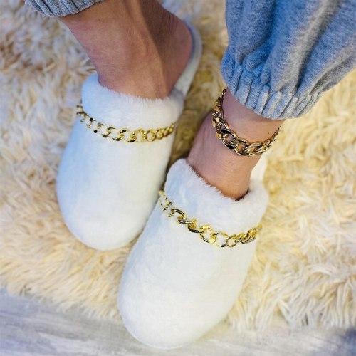 Woman Winter Slippers Ladies Fashion Female Warm Slipper Women's Indoor Shoes Flat Shoe