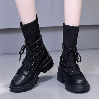 Sock Boots Women Stretch Ankle Boots Fashion Short Booties Female Shoes