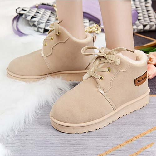 Women Winter Warm Snow Boots Ladies Flat Platform Shoe Female Outdoor Casual Ankle Boots