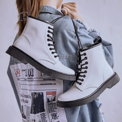 Ankle Boots for Women Lace-Up Boots Fashion Shoes Motorcycle Boots