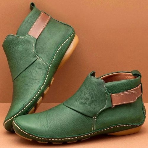 Women Retro Flat Ankle Boots Female Shoes Ladies Solid Women's Boots Footwear