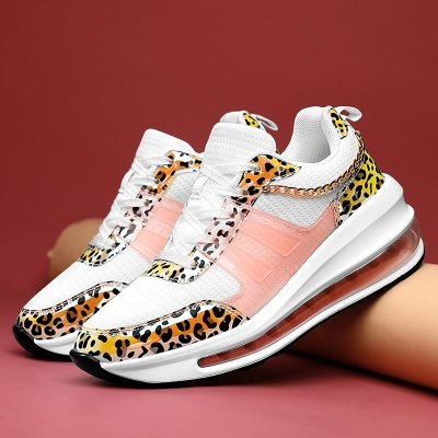 Women Shoes Walking Sport Sneakers Wedge Shoes Leopard Shoes Female