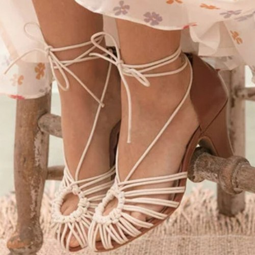 Women Summer Shoes Woman round Toe High Heel Shoes Woman Shoe High Heels