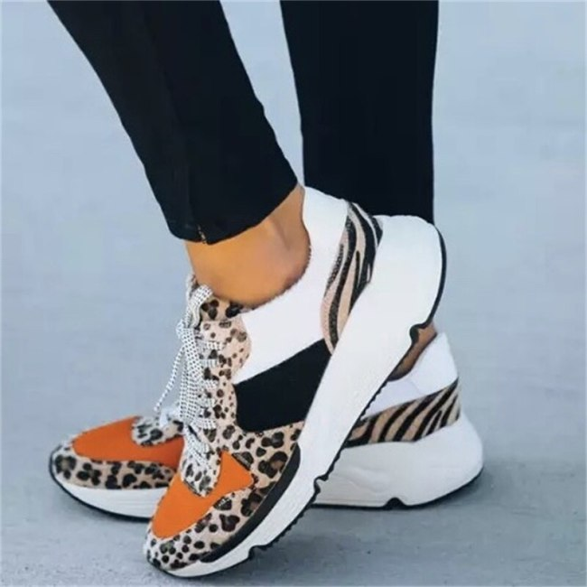 Woman Sneakers Fashion Shoes Plus Size Casual Breathable Walking Flats Shoes