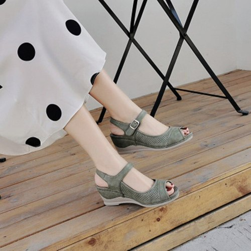 High Heel Wedges Large Wedge Comfortable Sandals Plus Size Sandals