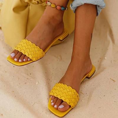 Women Slippers Summer Outdoor Casual Indoor Sandals Solid Elegant Beach Flat