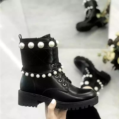 Fashion Women Boots Round toe boots female solid Boots