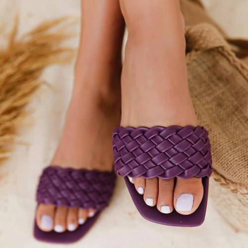 Women Slippers Summer Outdoor Casual Indoor Sandals Solid Elegant Beach Flat