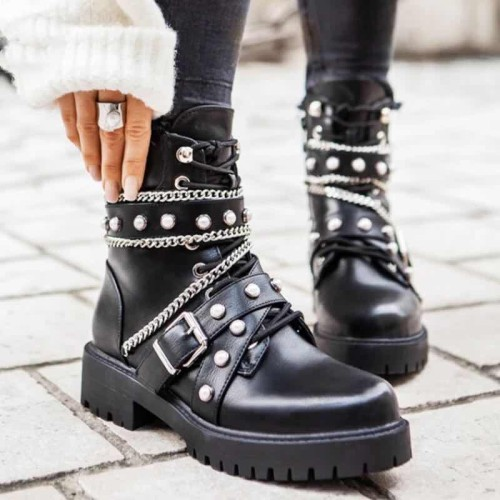 Boots Winter Women's mid-calf Boots Wedge Platform Boots