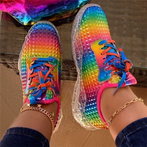 fashion casual women flats shoes walking ladies sneakers