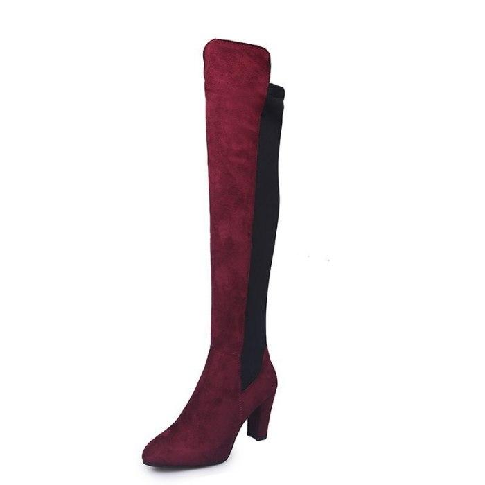 Sexy Women's Boots Flock High Heel Warm Fashion Ladies Shoes Female