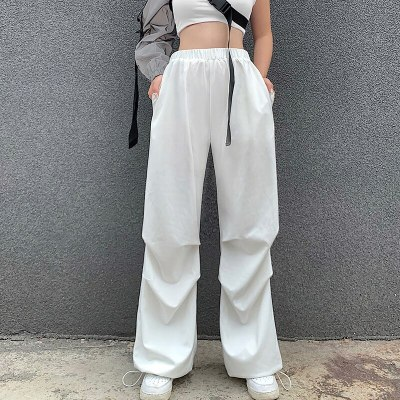 Streetwear Solid  Pants High Waisted Women Fashion Pants