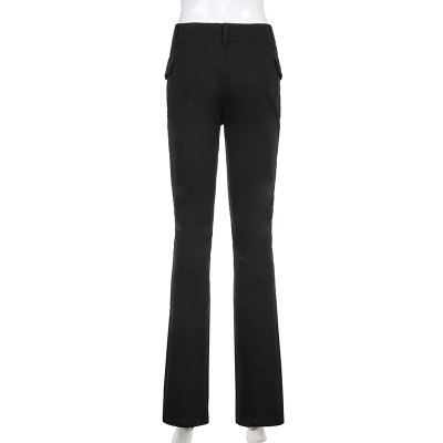 Black Vintage Trousers Women's Pants Pants Streetwear Fashion