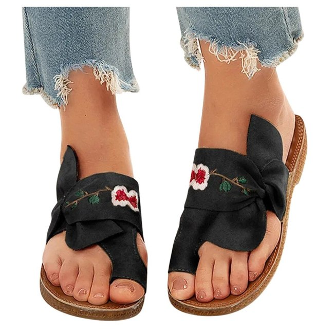 Women's Ladies Casual Sandals Flat Slippers Beach Shoes Retro