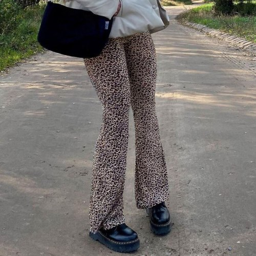 High Waist Pants Fashion Women Party Club Trousers Autumn