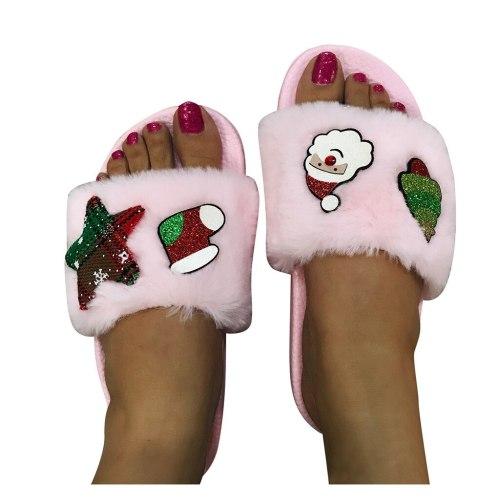 Women Home Slippers Fashion Warm Shoes Woman Flats Female