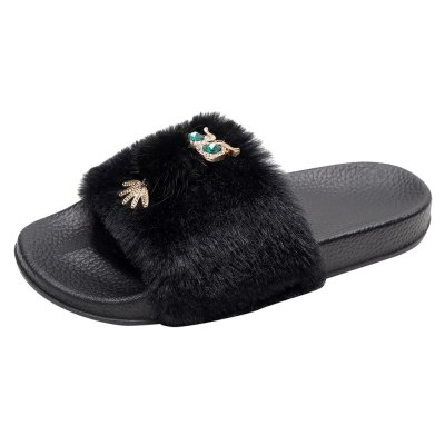Women's Slipper Flats Open Toe Shoe Light Casual Cotton Slippers