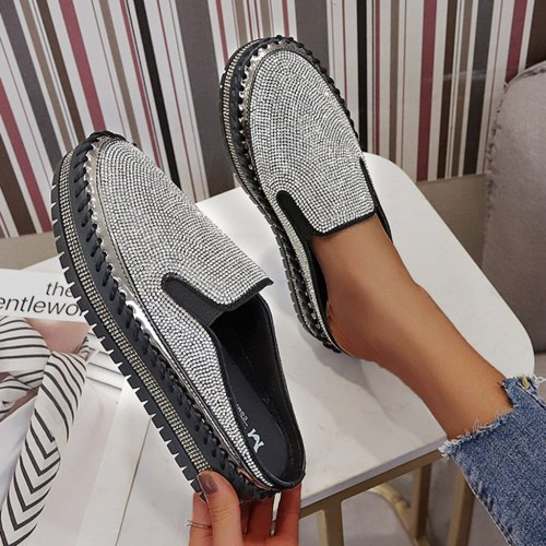 Women Flats Slip on Pattern Flat Woman Sneakers Casual Shoes