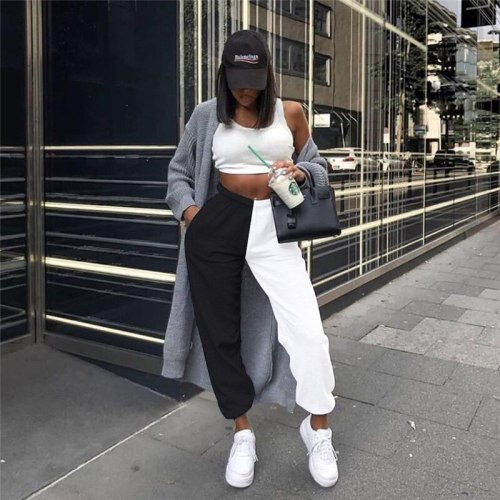 Women Pants Casual High Waist Trousers Women