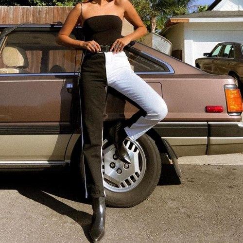 Jeans Women High Waist Fashion Streetwear Pants Trousers Casual Pants