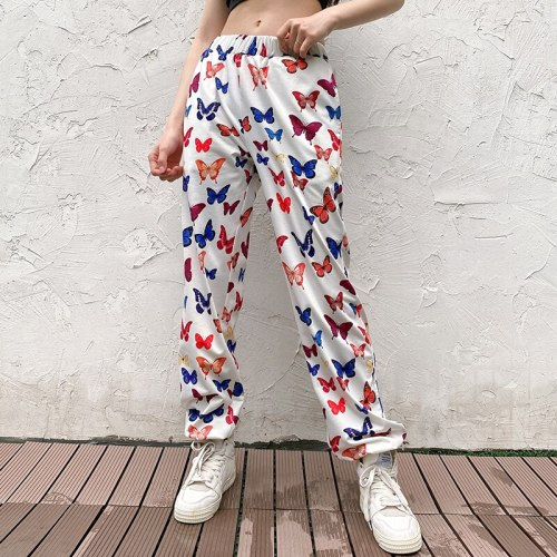 Printed Streetwear Pants Casual High Waist Pants Women