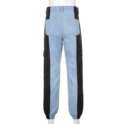 Jean Fashion Streetwear Loose Pants Women Casual  Denim Pants Slim