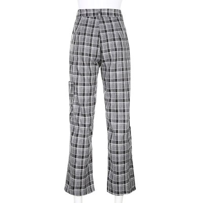 Printed Casual Trousers Women Fashion Pants High Waist Pants Retro