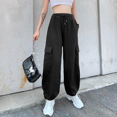 Black Casual Joggers Women High Waist Streetwear Pants Female Trousers