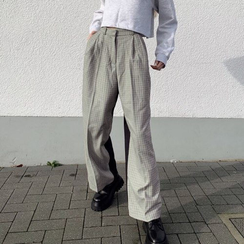 Vintage Streetwear Pants High Waist Women Trousers Woman Fashion Outfits