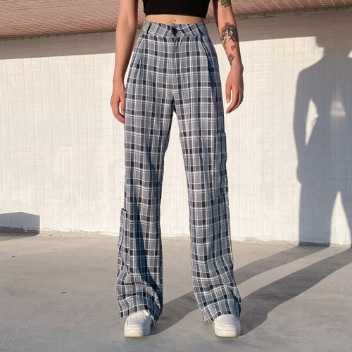 Printed Casual Trousers Women Fashion Pants High Waist Pants Retro