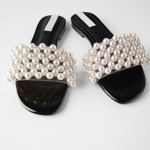 Women's Shoes Flat Leather Sandals Female Low-heeled Roman Sandals