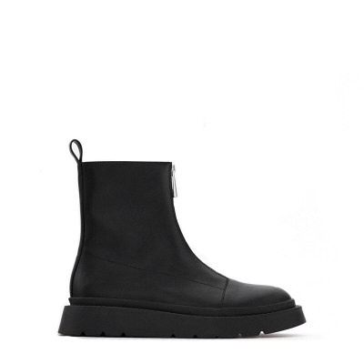 Women's shoes Martin boot round heel British style