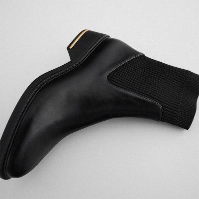 Woman Flat Boots Ladies Women's Shoes Winter Mid-Calf Black