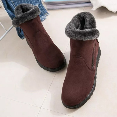 Woman Snow Boots Flat Shoes Ankle Boots Fashion Casual